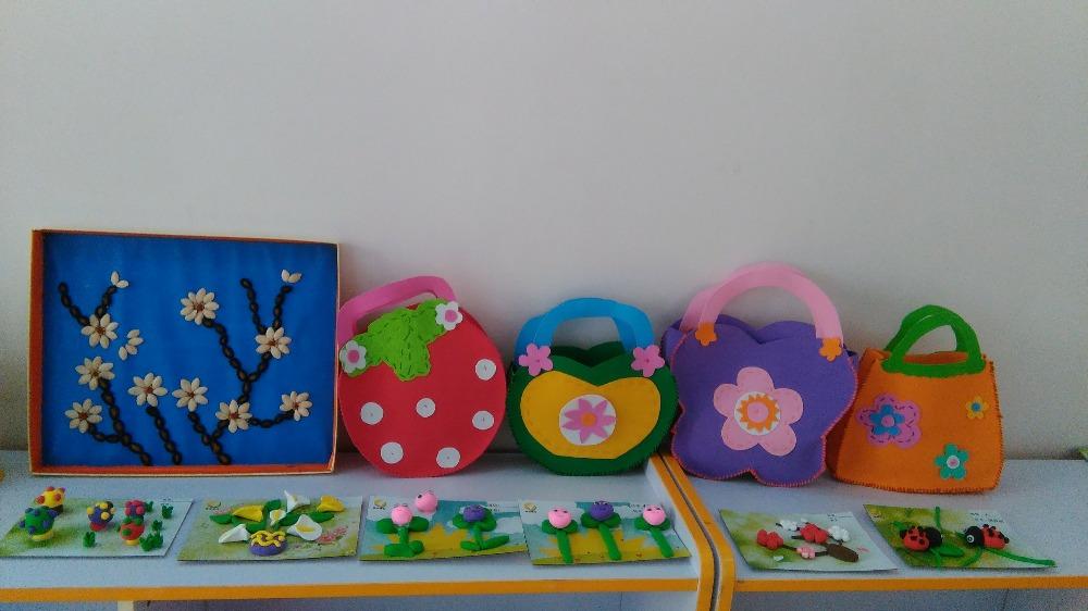 瓜子贴画和手工包包(大班)图片