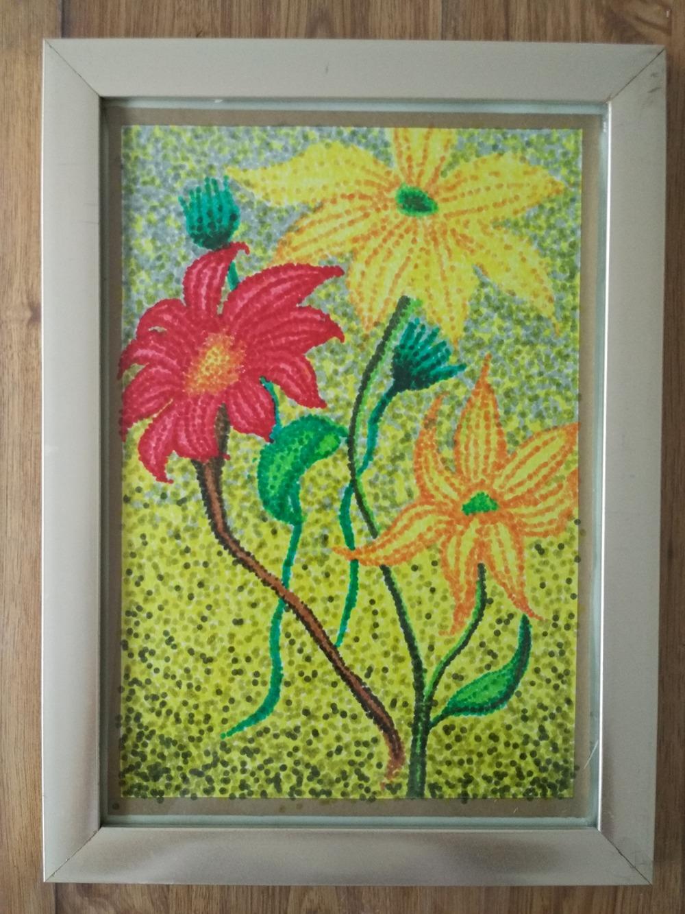 水彩笔点__幼儿园水粉水墨画绘画_幼儿园绘画——师乐