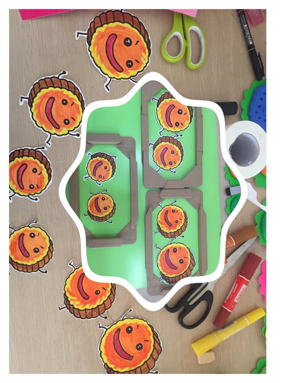 纸盘画手绘 月饼