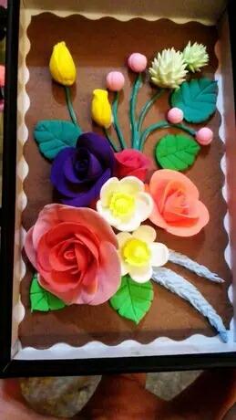彩泥制作,玫瑰花 小动物