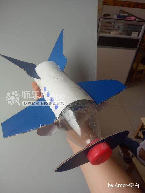 幼儿园创意手工废物利用亲子作品飞机——师乐汇幼儿