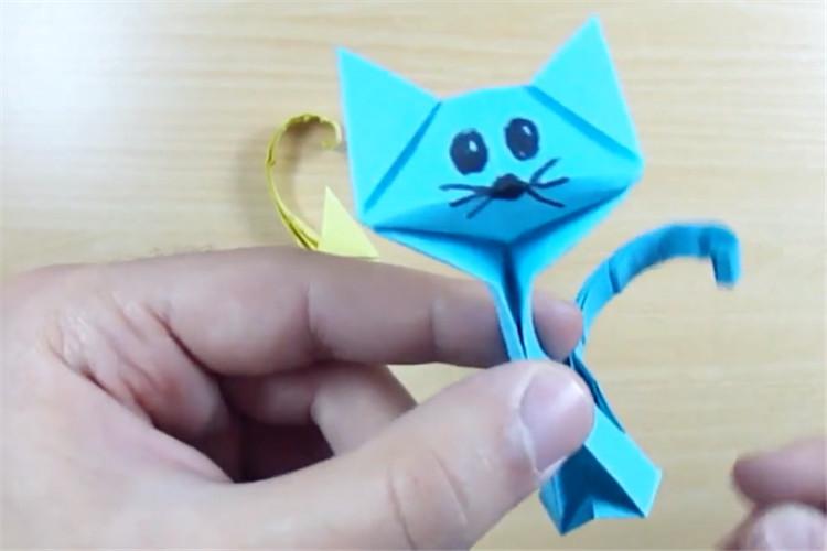 紙制品制作:手工制作一只折紙貓
