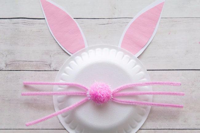 纸盘手工:小兔子