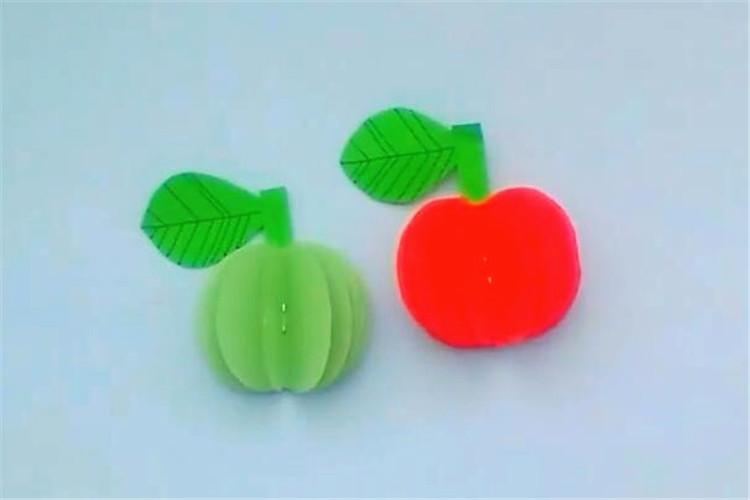 創意手工:3D蘋果