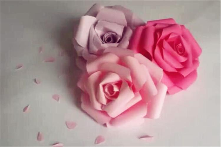 手工DIY:漂亮的玫瑰花