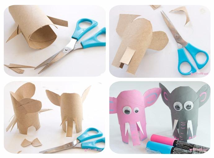 卷纸芯小动物手工