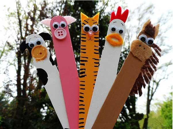 幼儿园玩教具制作:雪糕棍小动物