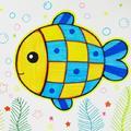 幼儿园大班美术教案:水里的鱼(