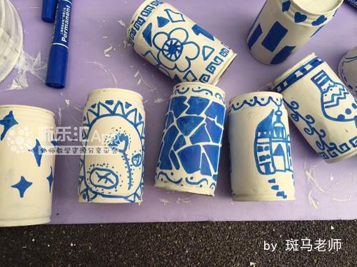 易拉罐=青花瓷风格