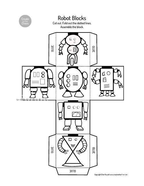 机器人魔方,打印涂色