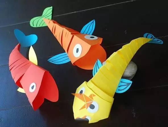 会游动的剪纸鱼