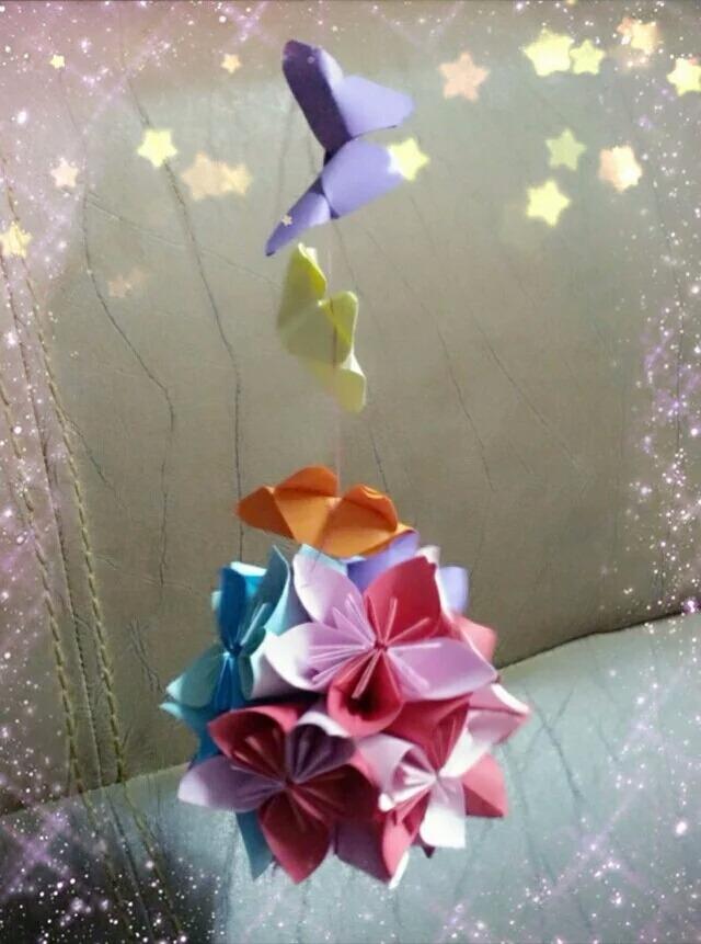 樱花球吊饰