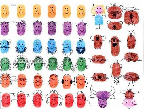 神奇的手指印画