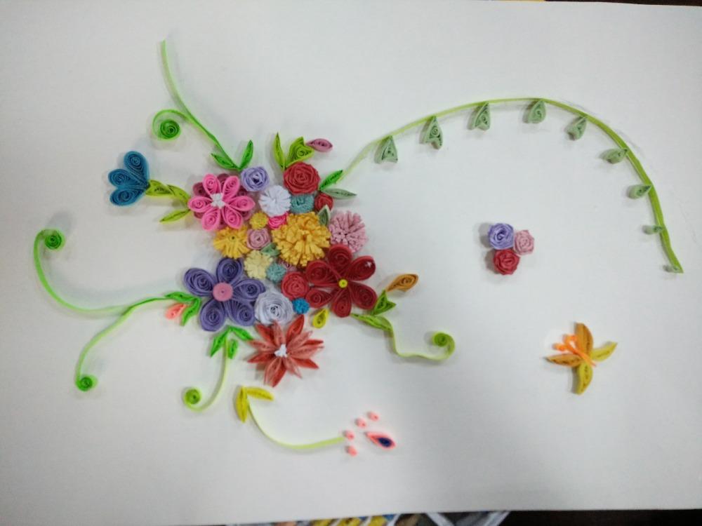 纸圈的花,攒攒的