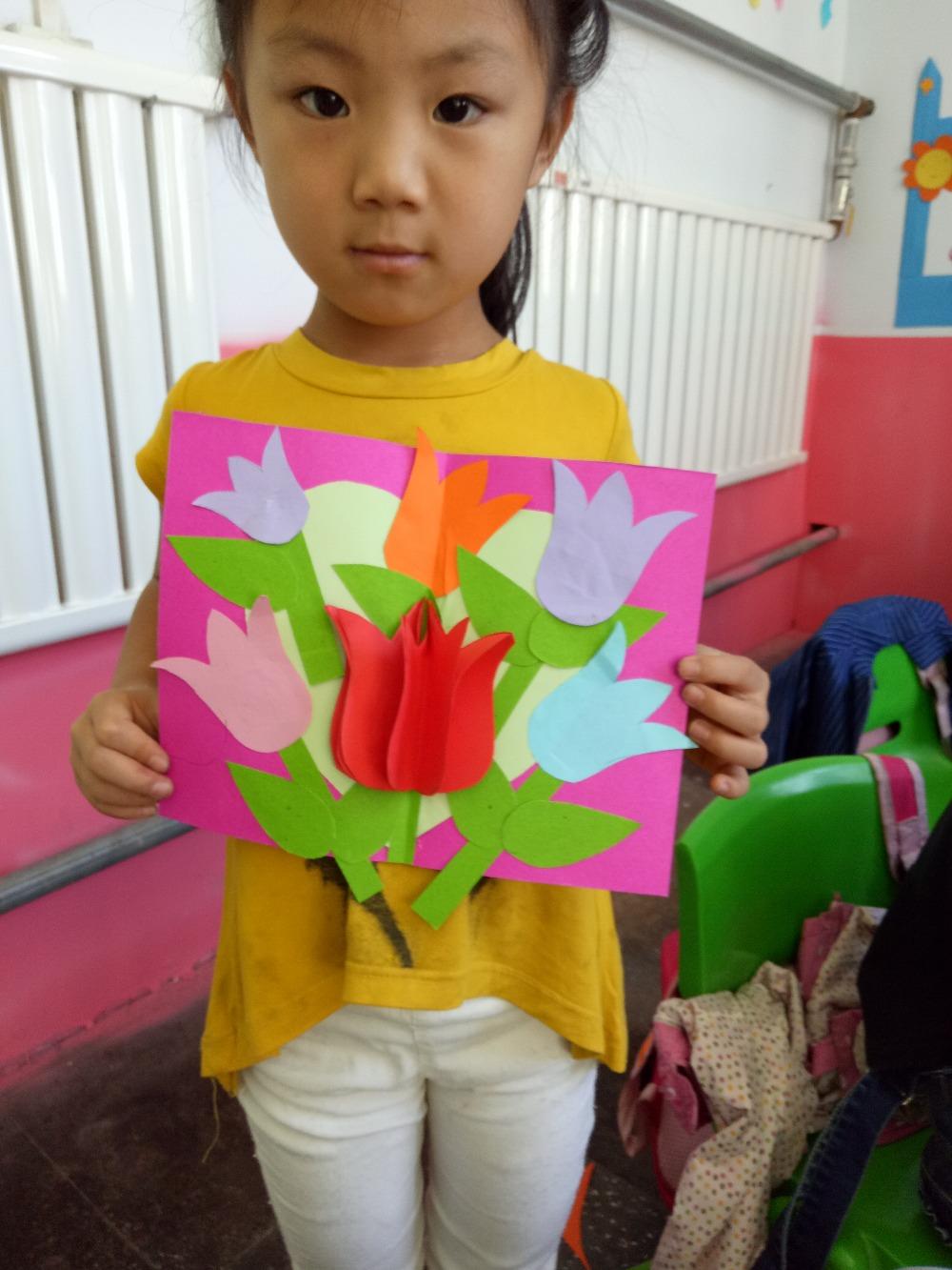 孩子给老师制作的节日贺卡,棒棒哒!
