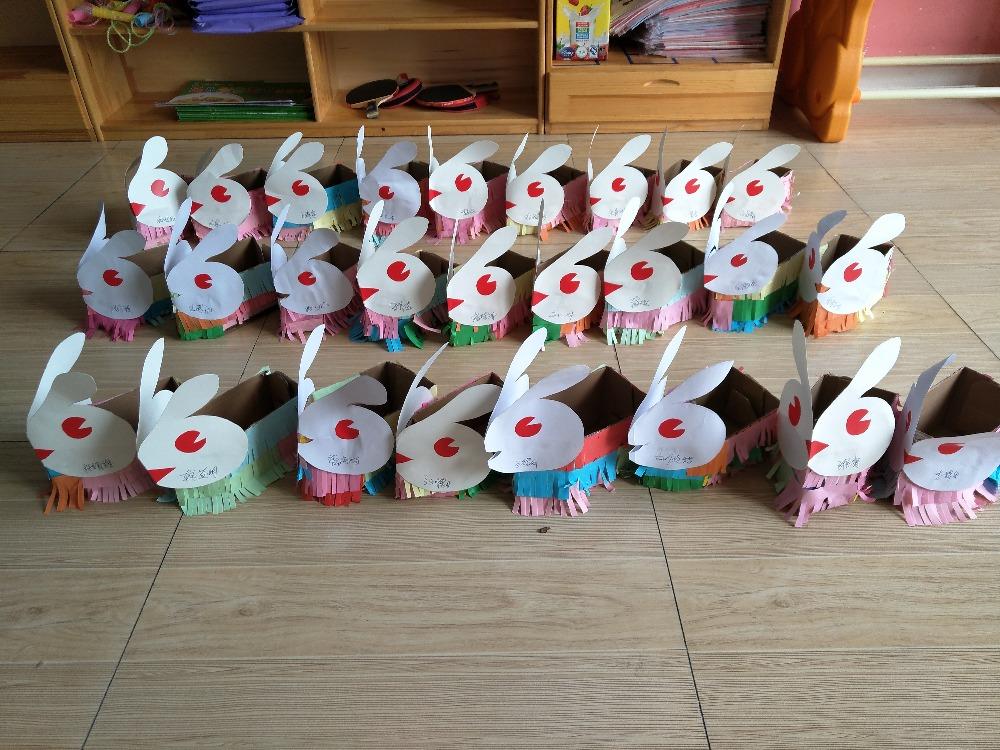 中秋节手工——玉兔存储盒