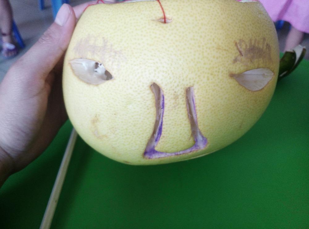 中秋节柚子的手工