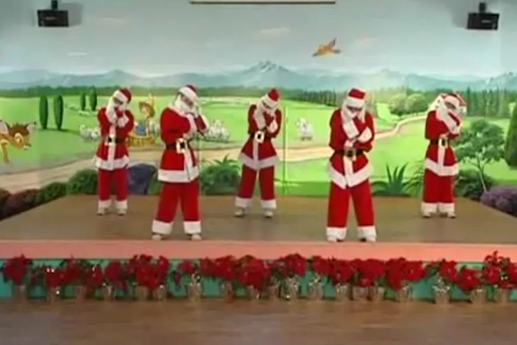 幼儿园大班舞蹈:疯狂过圣诞