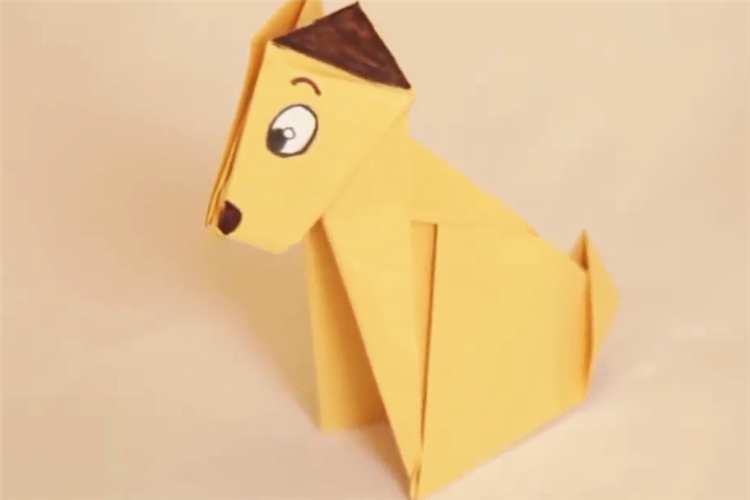 折紙教程:手工小狗diy