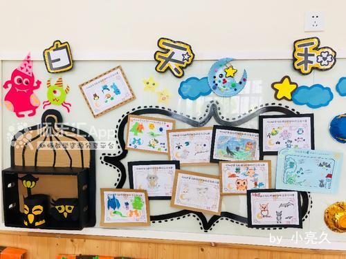 大班幼儿手指游戏_白天和黑夜主题墙——幼儿教师网_师乐汇