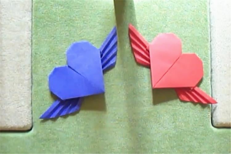 手工DIY:帶翅膀的心