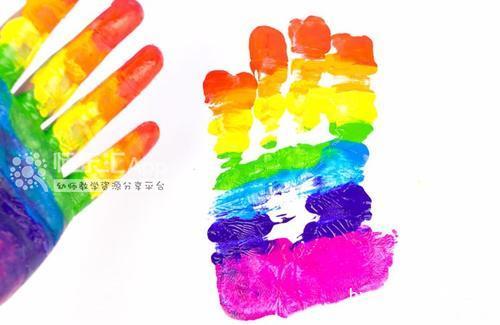 手印画:彩虹