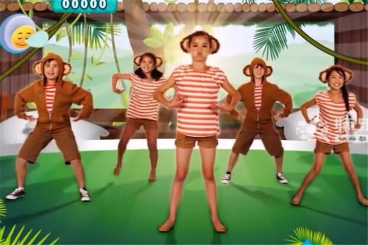 有趣的幼儿园舞蹈:跳舞的五只小猴子
