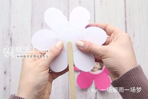 创意手工花朵形贺卡