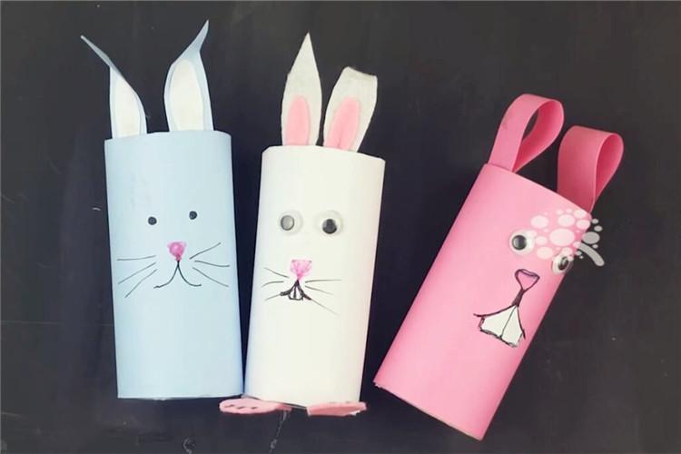 手工DIY:教你如何用卷紙芯制作兔子