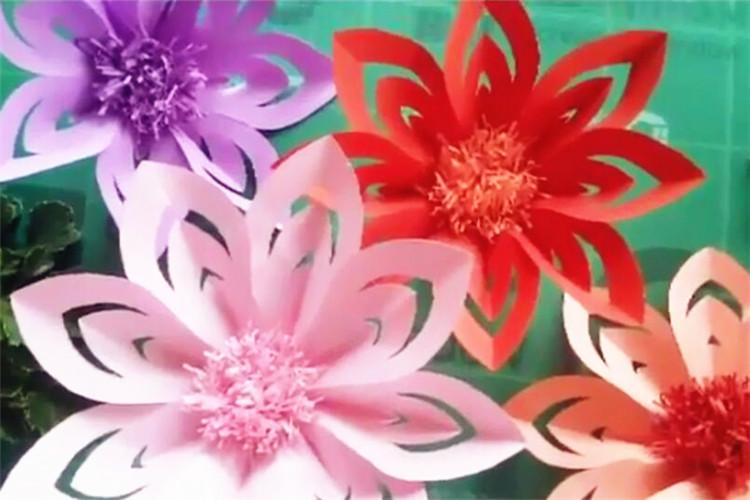 手工玩教具制作:送你一朵大红花
