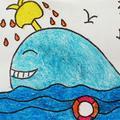 【鲸鱼】简笔画