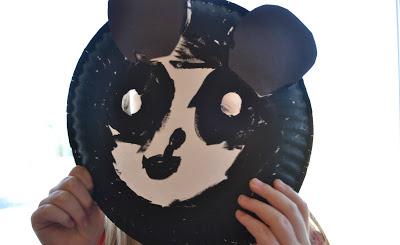 纸盘熊猫面具