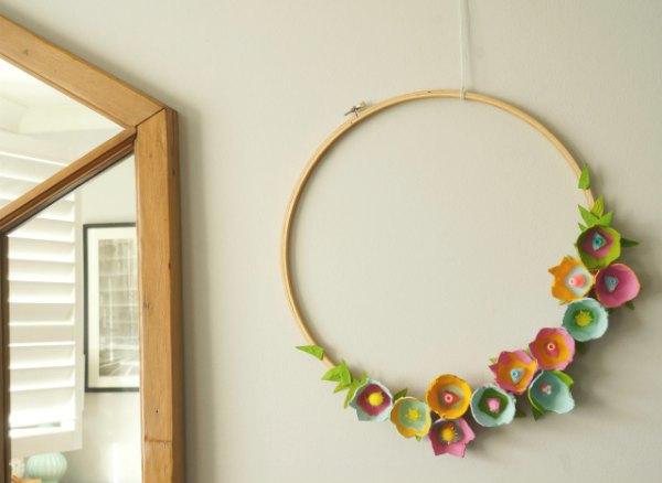 鸡蛋托墙面装饰
