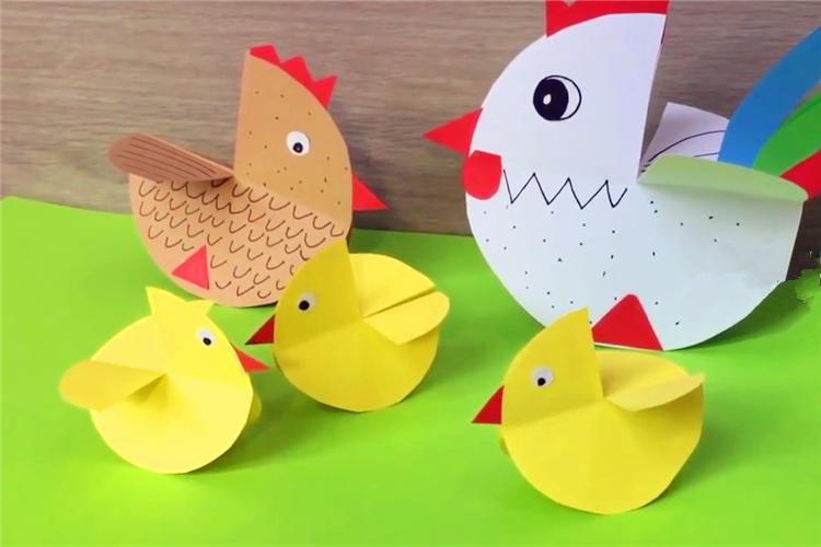 手工DIY:简单的小鸡
