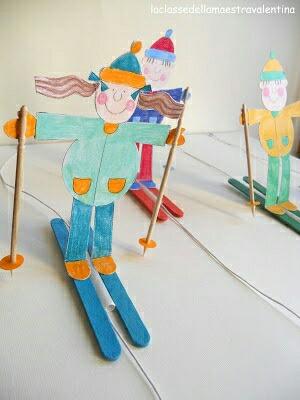 滑雪的小人