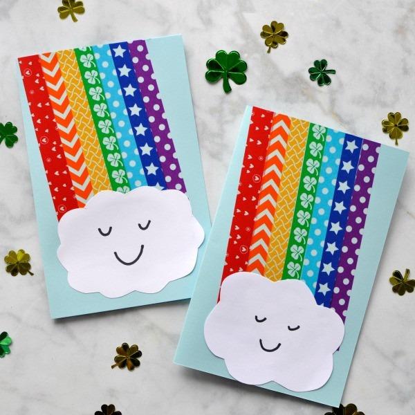 手工贺卡:彩虹